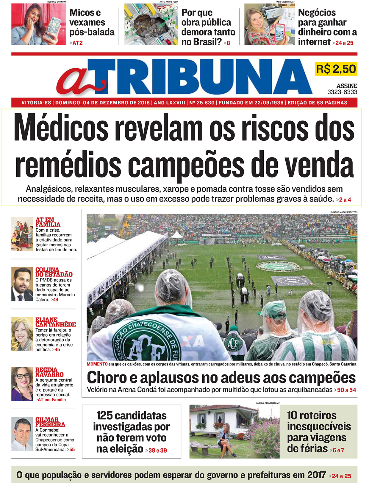 Médicos revelam riscos dos remédios líderes em vendas - A Tribuna - Capa